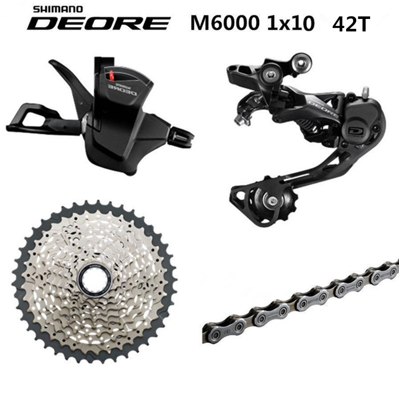 US $63 05 7% OFF|Shimano DEORE M6000 / M610 / M615 10 Speed Shifter + Rear  Derailleurs + 42T 46T 50T SUNSHINE Cassette 10SPEED Chain Groupset-in