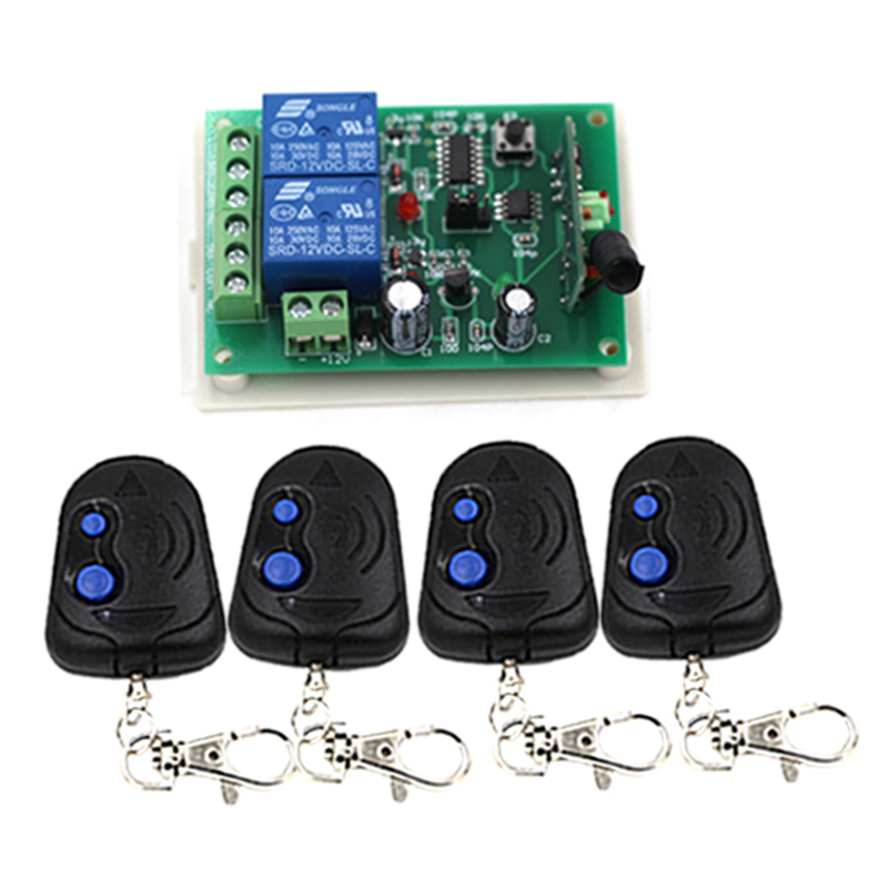DC12V 2CH channel Wireless Remote Switch Remote Control System Wireless ON/OFF For Door Window 3305 ifree fc 368m 3 channel digital control switch white grey