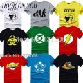 The big bang theory camiseta sheldon cooper super hero green lantern el flash cosplay camisetas hombres mujeres friki camiseta TBBT camiseta