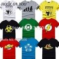 The big bang theory camiseta sheldon cooper super hero green lantern el flash cosplay camisetas hombres mujeres friki camiseta TBBT camiseta