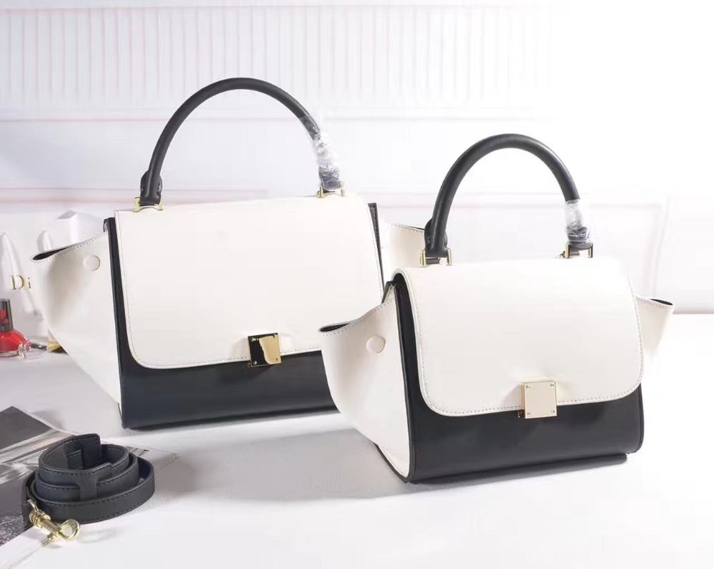 Europe High Grade Trapeze Top Handle Bags Women s Genuine Leather Shoulder