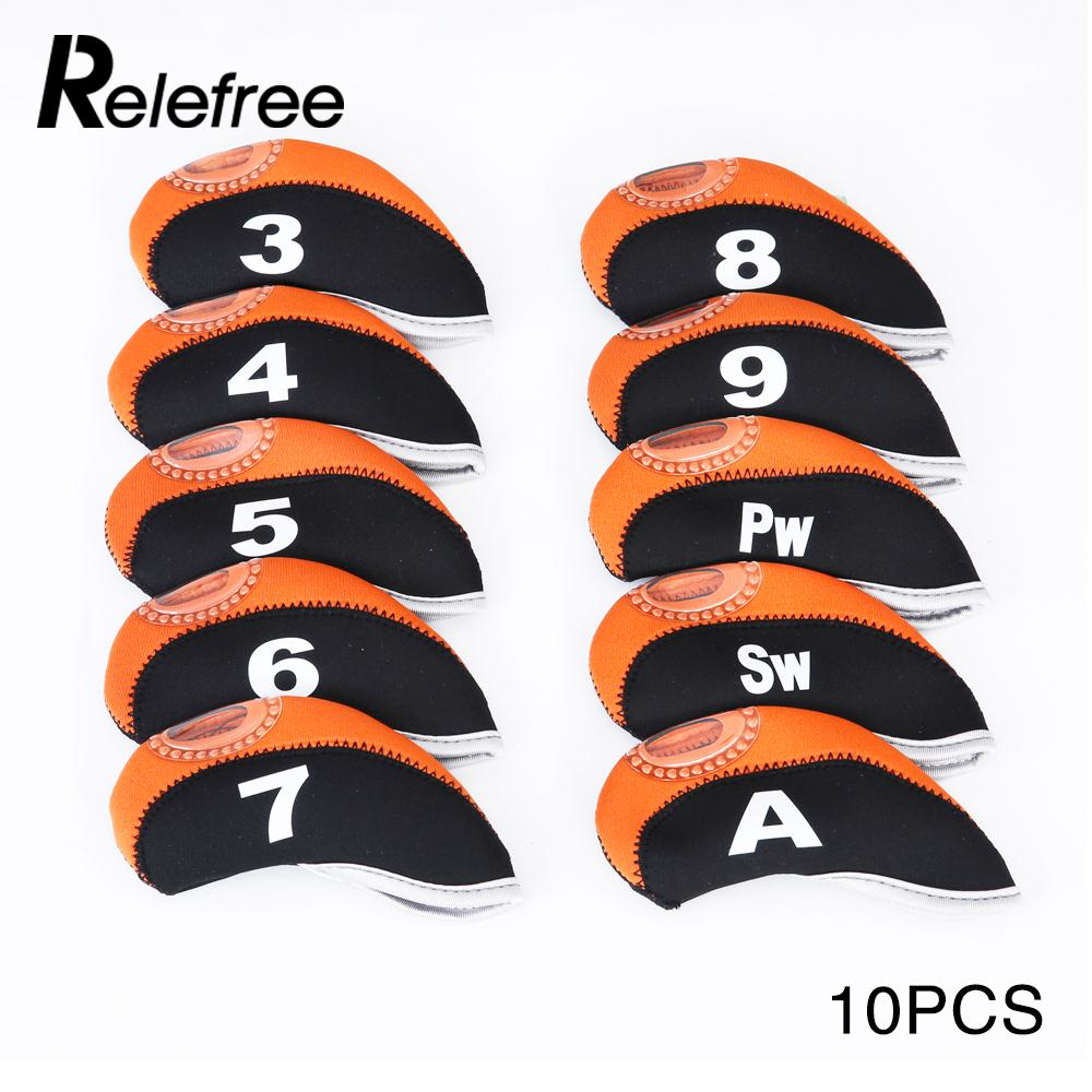 10PCS/Set Nylon Storage Putter Cover Durable Protect Iron Putter Headcover Club Golf Head Cover Case