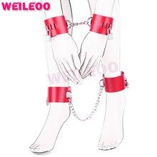 Искусственная кожа наручники наручники секс-игрушки bdsm связывание набор фетиш раб bdsm секс игрушки для пар взрослых игр