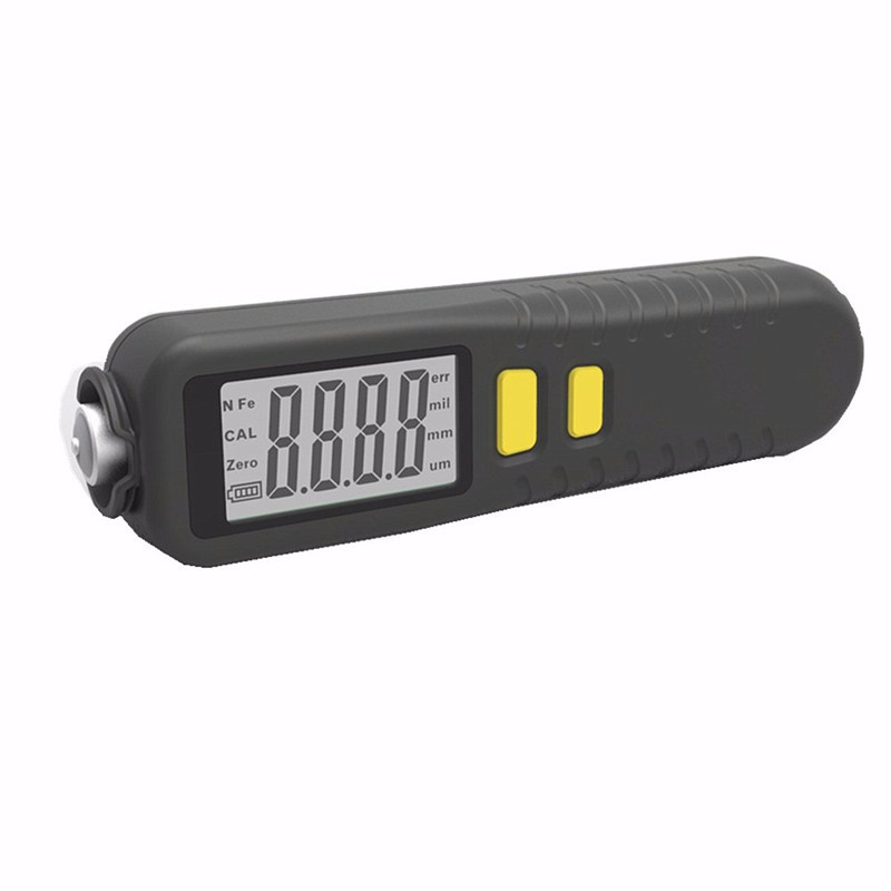 Digital Coating Thickness Gauge 1 micron/0-1300 Handheld Car Paint Film Thickness Tester Meter Measuring Fe/NFe Coatings LCD digital film coating thickness gauge mini ultrasonic automotive lcd car coat painting thickness tester width measure meter gm200