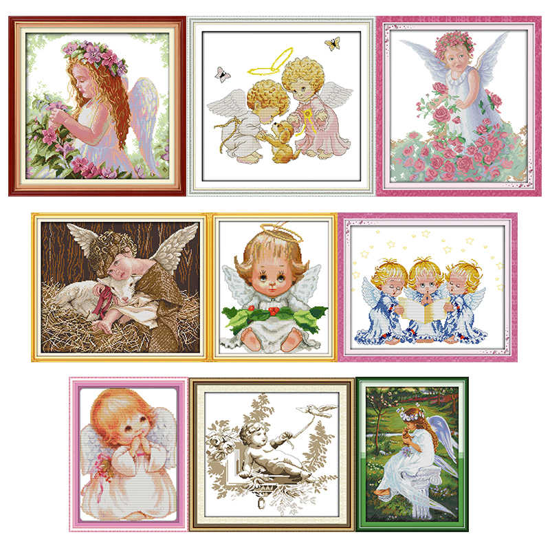 "/""Little Girl/"" 11CT counted cross stitch kits 35cm*46cm"