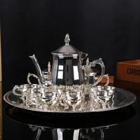 Bán buôn phong cách Châu Âu zinc cà phê hợp kim nồi tập hợp các kim loại thời trang bộ trà vào buổi chiều