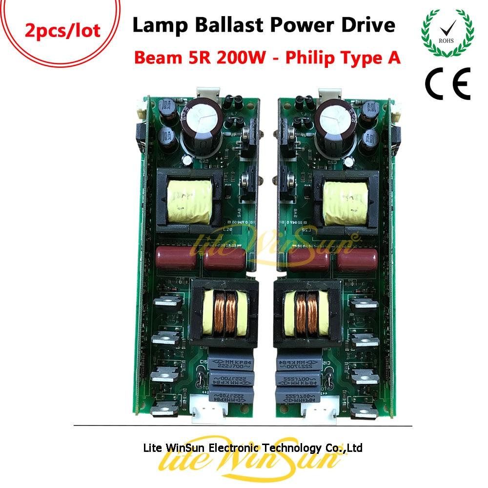 Litewinsune 2PCS FREE SHIP Generic Lamp Ballast Power Board For Beam 5R 200W Moving Head Lamp