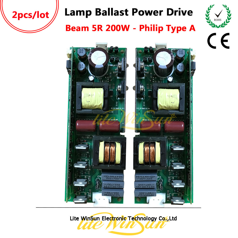 Litewinsune 2PCS FREE SHIP Generic Lamp Ballast Power Board for Beam 5R 200W Moving Head Lamp fast free ship 16m flash csr8670 development board debug board demo board emulation board adk3 5 1 adk3 0 i2s spdif