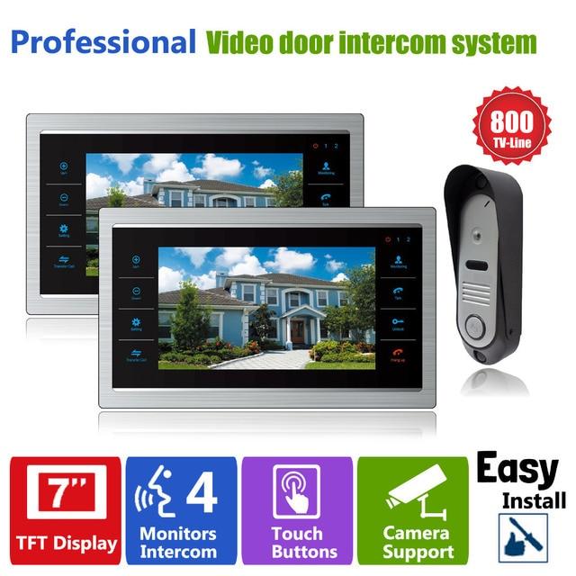 Homefong Video door Phone Intercom Doorbell Camera System 7 Inch Door Monitor Home Security Touch Key  sc 1 st  AliExpress.com & Aliexpress.com : Buy Homefong Video door Phone Intercom Doorbell ...