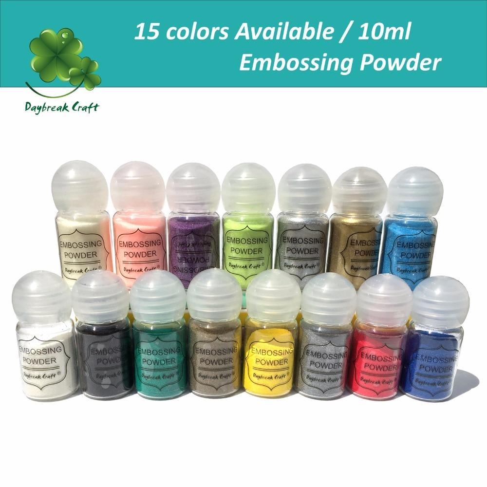 10ml DIY 3D Paper Solid Color Embossing Powder Scrapbook Embellishments