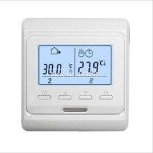 10 조각 M6.716 220V 16A LCD 프로그래밍 가능한 전기 디지털 바닥 난방 룸 공기 온도 조절기 따뜻한 바닥 컨트롤러 온도 조절기