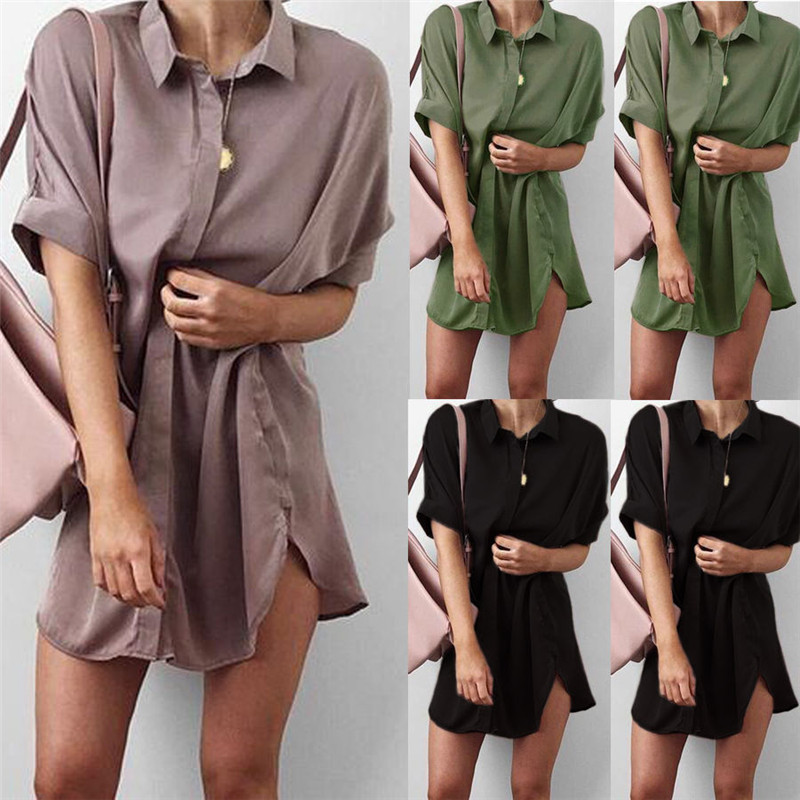 4-Colors-Short-Sleeve-Maternity-V-neck-chiffon-blouse-summer-fashion-casual-solid-Color-shirts-loose