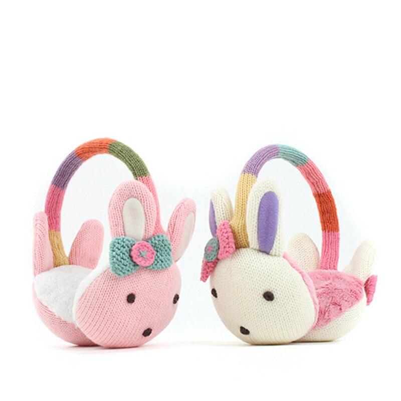 Korean Winghouse Children Earmuffs Cute Cartoon Rabbit Earbags Baby Girls Warm Windproof  Earplug Winter Headphones