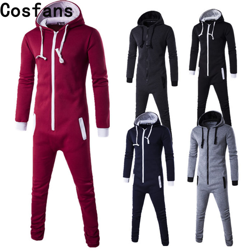 New motion piece men zipper cardigan Hoodie Black Blue Pyjamas One Piece Sleepwear Adult Onesie Women Men Costume Winter Cosplay