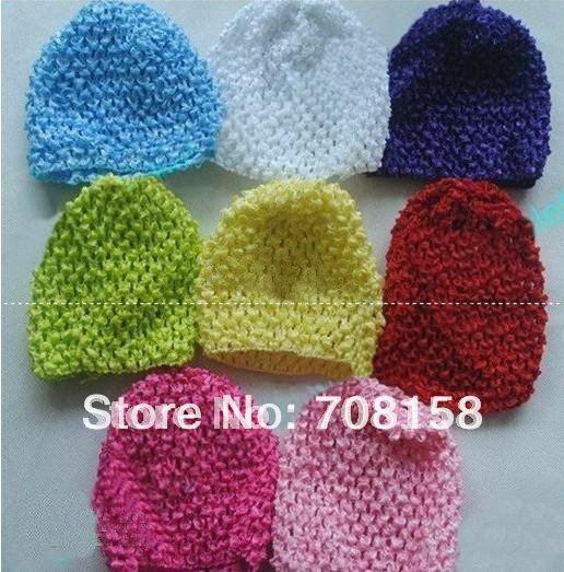 500 шт., детское вязанное крючком изделие, шапки и вафельные шапочки и шапки, много цветов на выбор