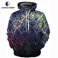 2018 3D Fashion Trend Starry Sky Totem Digital Printing New Couple Baseball Clothing Fall Winter Hooded