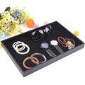 New Black Jewelry Tray Ring Earring Showcase Bracelet Holder Necklace Pendants Shelf Jewelry Storage Watch Case Free Shipping