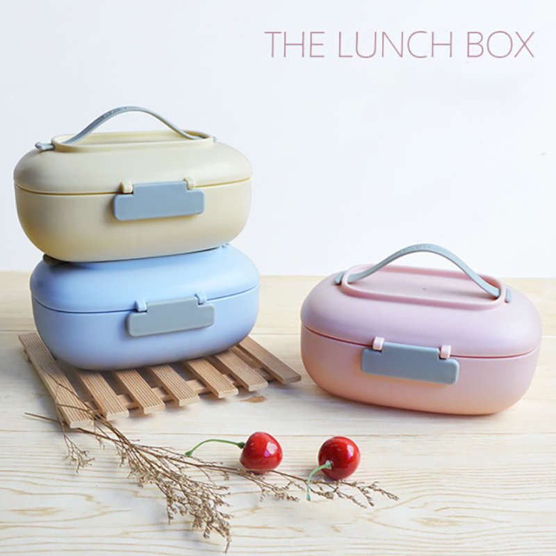 ONEUP Lunch Box For Kids Fashion Eco Friendly Portable Food Storage Container Leakproof Microwavable Bento Box School Picnic|Lunch Boxes| |  - title=