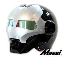 Мотоциклетный шлем 901 половину Ironman шлем безопасности премиум гонки по бездорожью подвергая поверхность черный
