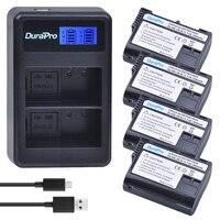 DuraPro 4Pcs EN EL15 EN EL15 ENEL15 Battery LCD USB Charger For Nikon D7000 D7100 D800