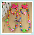 Fashion Handmade children jewelry sets!Kid's Flower Necklace products Gift Collocation Baby clothes N Wholesale CS62