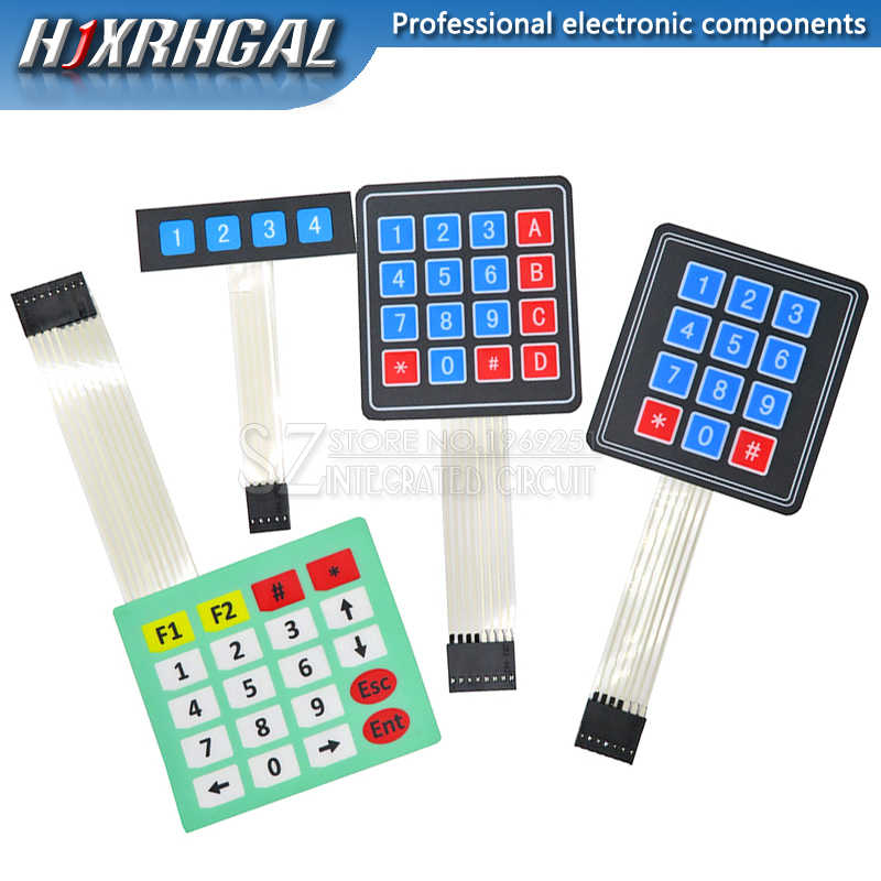 1PCS 4 12 16 20 Key Membrane Switch Keypad 1x4 4X4 3X4 4X5 Matrix Keyboard for arduino Diy Kit