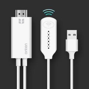 Sans fil WiFi miroir câble moulé pour MHL à HDMI convertisseur 1080 P HDTV adaptateur HDMI câble pour iPhone pour Samsung Android Windows