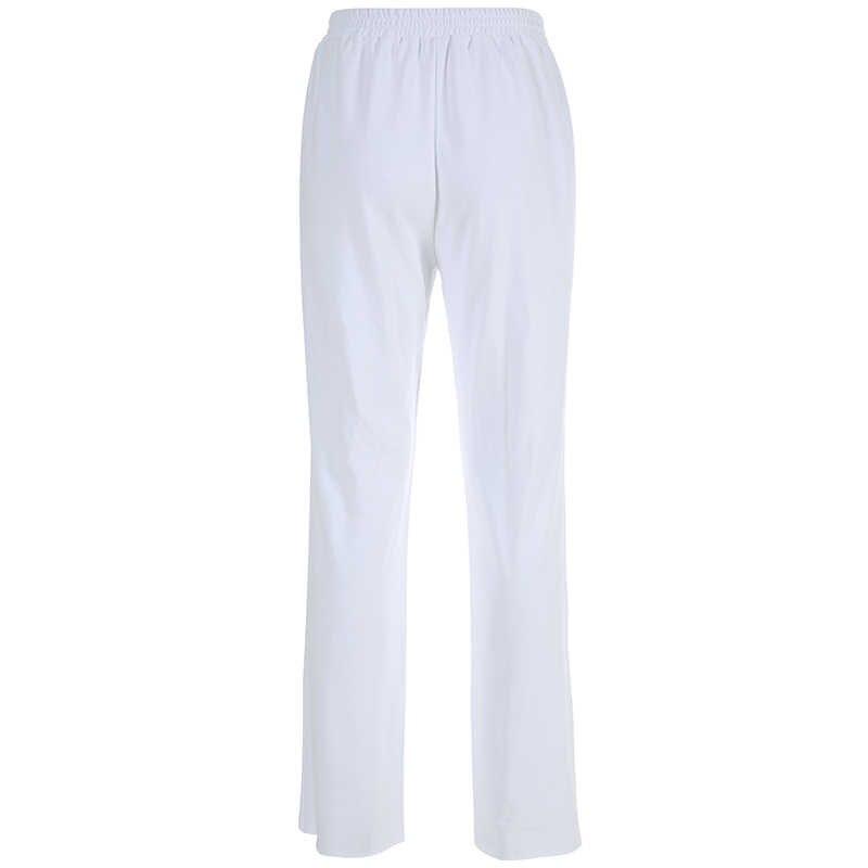 HEYounGIRL повседневные свободные белые спортивные штаны капри корейские спортивные штаны женские эластичные брюки с высокой талией вечерние Брюки с карманами на молнии