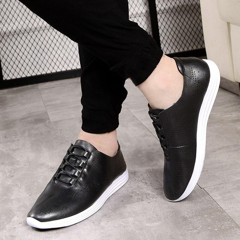 Peau Cuir Sneakers En allumette Rétro Automne Occasionnels Mode Chaussures Respirant Britannique De D'été Hommes Printemps Mâle Tout Vache LSMVGqUzp