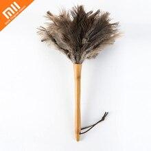 Original xiaomi mijia ácaros anti-estática espanador de penas de avestruz cabelo mobiliário sofá carro ferramentas de limpeza