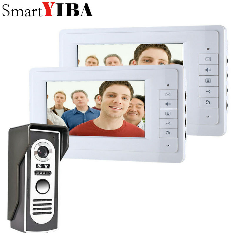 SmartYIBA 7 Inch Video Door Phone Doorbell Intercom Kit 1-camera 2-monitor Night Vision 7 inch video door phone doorbell intercom kit 1 camera 1 monitor page 3 page 8