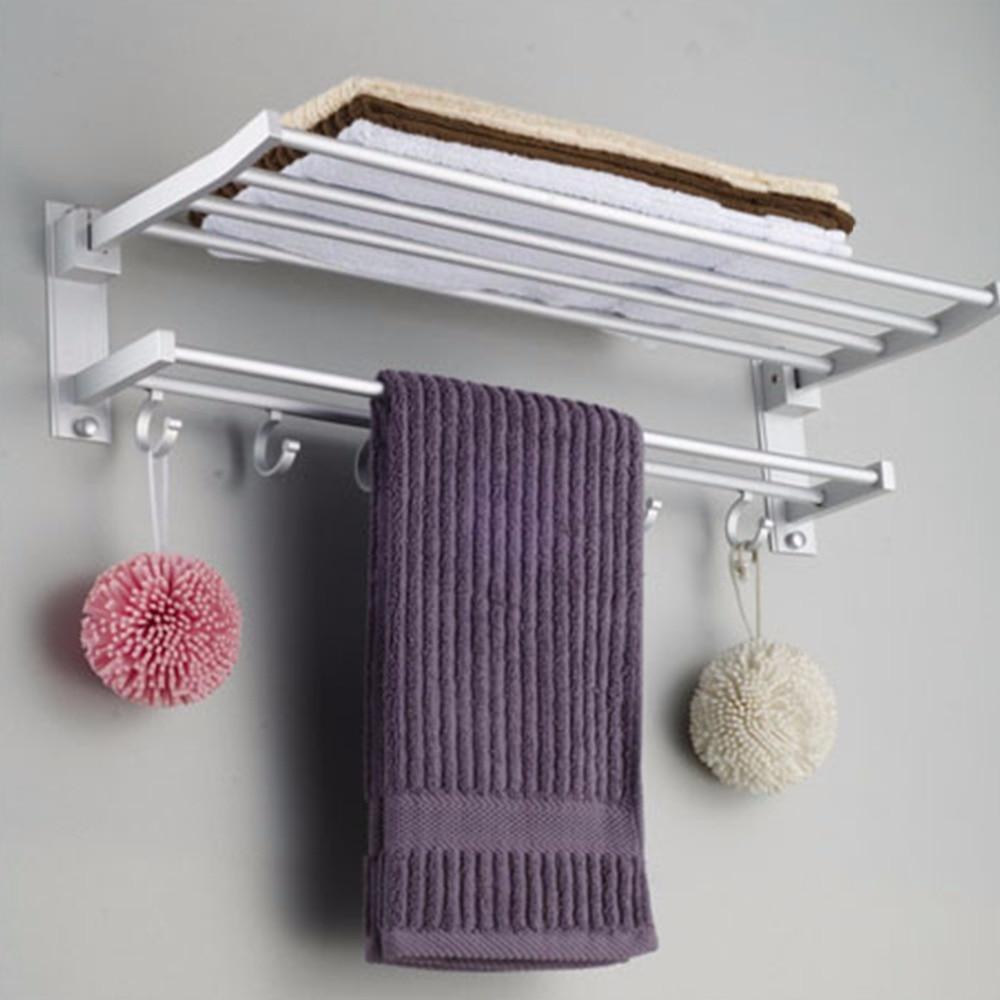 Multi-function Foldable Alumimum Towel Bar  Rack Tower Holder Hanger Bathroom Hotel Shelf  Bathroom Accessories towel holder