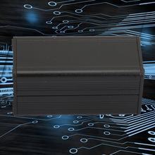 25*25*50mm Black Split type Aluminum shell PCB Instrument Enclosure Electronic Cooling Box