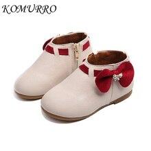 Детские ботинки для девочек; детская обувь; коллекция года; сезон осень; розовые туфли принцессы с бантом для девочек; детские ботинки на плоской подошве с круглым носком на молнии; обувь для девочек