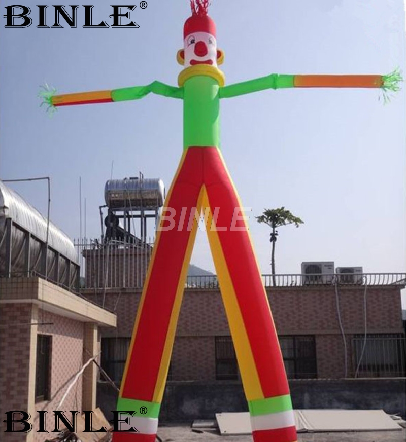 Hot sale 6mH clown shaped funny inflatable sky dancer for party inflatable air dancer for sale