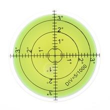 Precision Circular Round Bubble Spirit Level Surface Degree Mark Measuring Tool 60mm