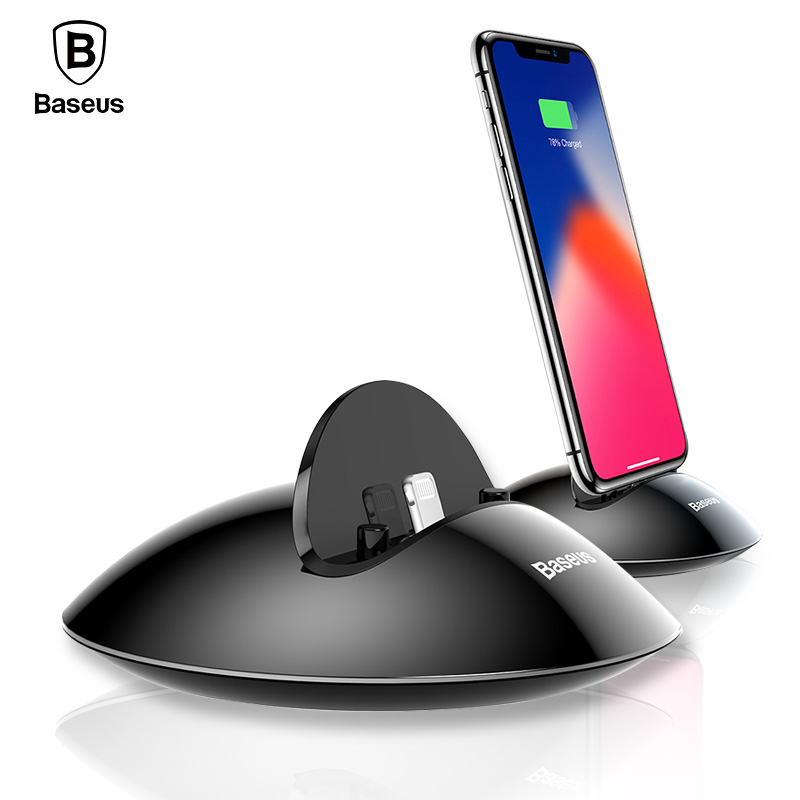 Baseus Charging Dock Station For iPhone X 8 7 6 6s Plus 5 5s se Desktop Docking Station Sync Data USB Charger Charging Stand