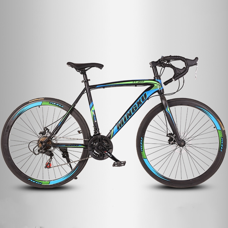 Mountain Bike High Carbon Steel Frame 21 Speed 24 Inches Full Shockingproof Frame Single Speed Multicolor Optional