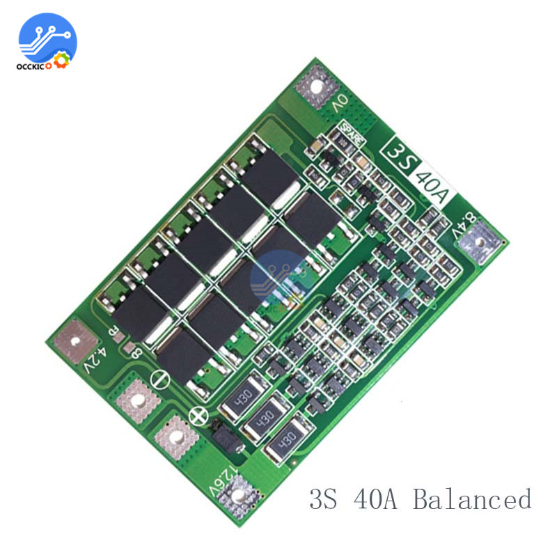 BMS 3S 4S 6S 8A 25A 30A 40A 60A 18650 Lithium Battery Charger Board 18650 Balance Enhance Version Equalizer Power Bank Charge image