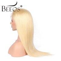 Beeos 180% Плотность 613 # полный шнурок человеческих волос парики Бесплатный Часть прямые светлые парик с ребенком волос бразильского Волосы remy