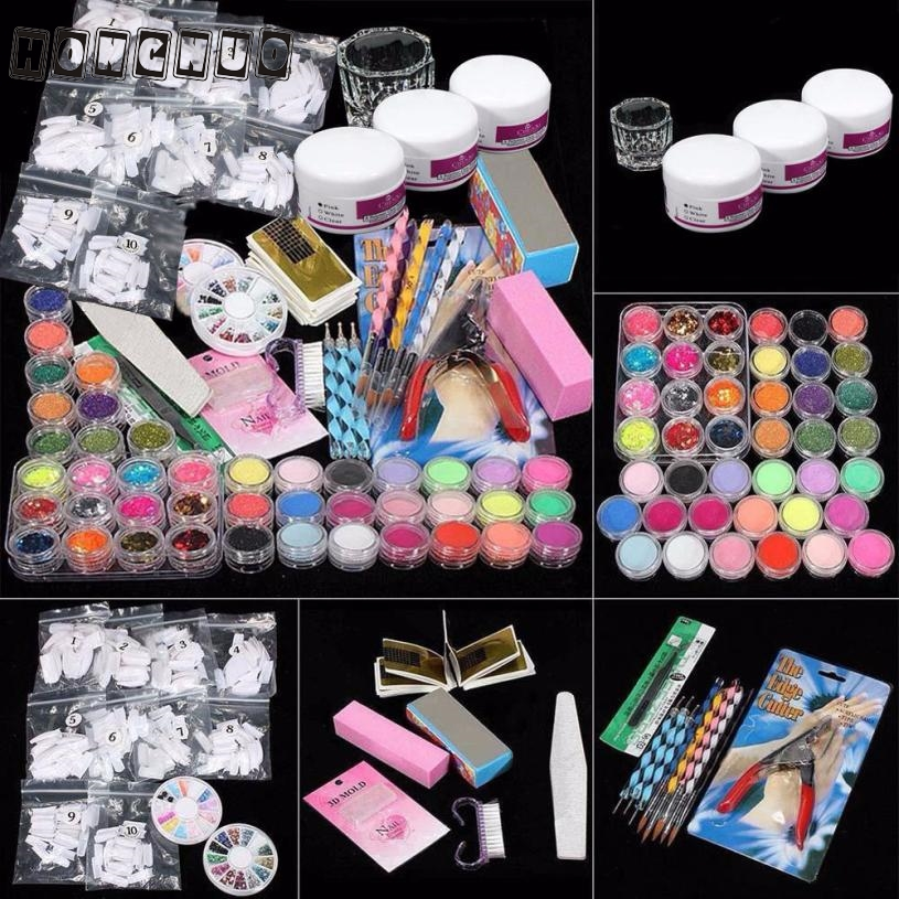 37PCS Nail art set Professional Acrylic Glitter Color Powder French Nail Art Deco Tips Set feb1737PCS Nail art set Professional Acrylic Glitter Color Powder French Nail Art Deco Tips Set feb17