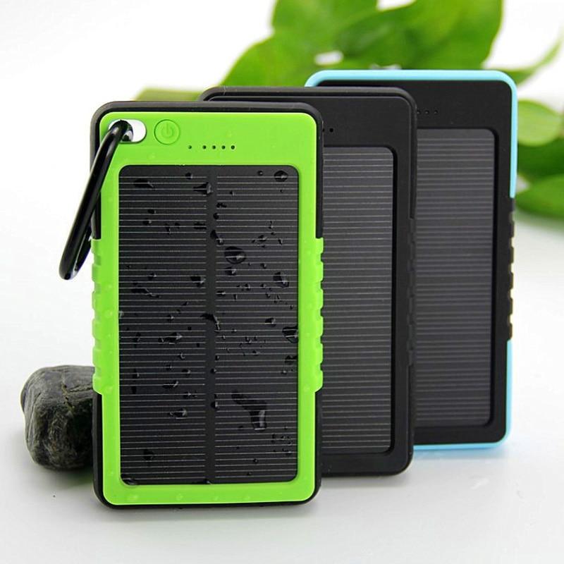bilder für Neue Wasserdichte Solarenergienbank 5000 mAh Bewegliche Li-polymer-akku Solar Ladegerät Bateria Externa Pack für handy