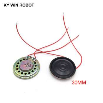 2pcs/lot New Ultra-thin Speaker 8 ohms 0.5 watt 0.5W 8R Speaker Diameter 30MM 3CM Thickness 5MM With Wire 2pcs lot new ultra thin speaker 8 ohms 2 watt 2w 8r speaker diameter 30mm 3cm thickness 5mm with 1 25mm terminal wire length 10c