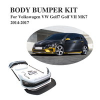 PU Gray Body Bumper Kits Bodykits for Volkswagen VW Golf 7 VII MK7 2014 2017 Car tuning Parts