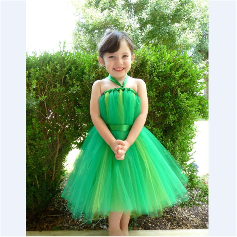 green tutu baby bridesmaid flower girl wedding dress tulle fluffy ball gown party NEW USA birthday evening prom cloth dress lilac tulle open back flower girl dresses with white lace and bow silver sequins kid tutu dress baby birthday party prom gown