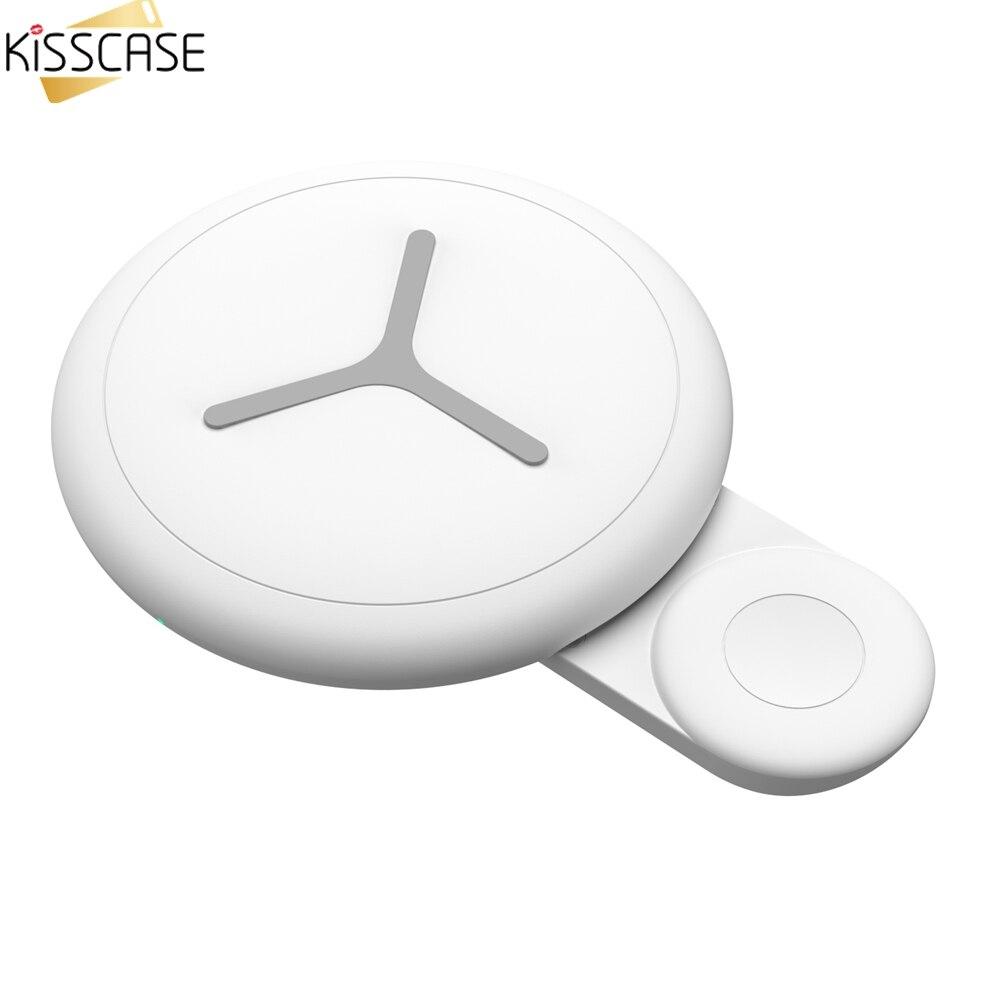 KISSCASE chargeur sans fil pour iPhone 8 12.5 W chargeur rapide double QI chargeur sans fil pour Apple Watch chargeur pour Samsung chargeur