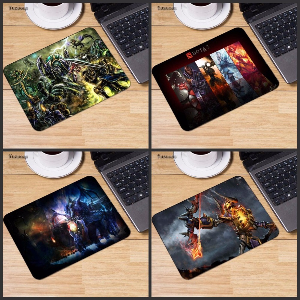 Yuzuoan Drop Shipping Rubber Mousepad Large DOTA Gaming Mousepad PC Computer Laptop Optical Mice Play Mat Size For 18x22mm