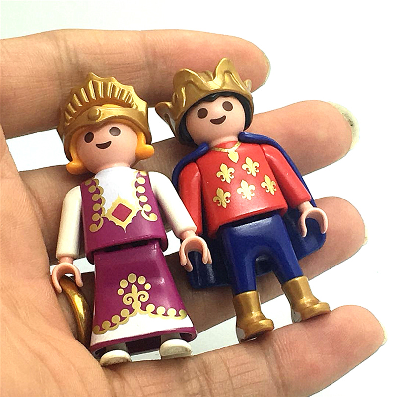Original Playmobil Figure Prince and Princess Action Figures Kids Best Toys Gift