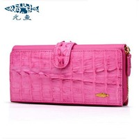 Yuanyu The New Alligator Wallets Long Imported Leather Crocodile Grain Hand Bag Lady Party Bags Handbags