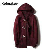 Kolmakov 2017 autumn new arrival sweater men's casual style sweaters men high quality hooded knitting sweaters full size M-5XL
